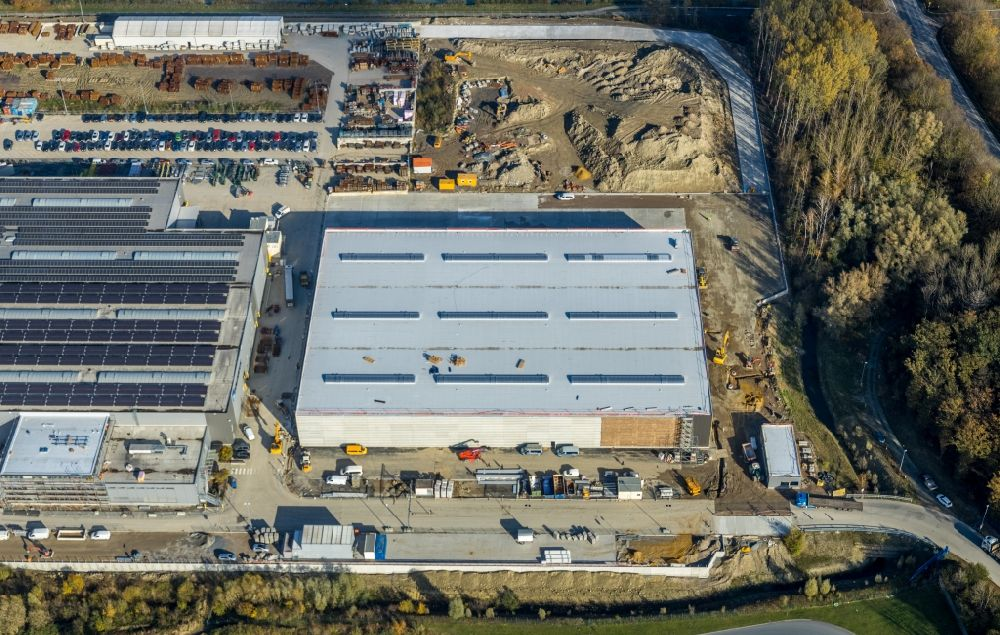 Hamm from above - Building and production halls on the premises on Frielinghauser Strasse in the district Uentrop in Hamm in the state North Rhine-Westphalia, Germany