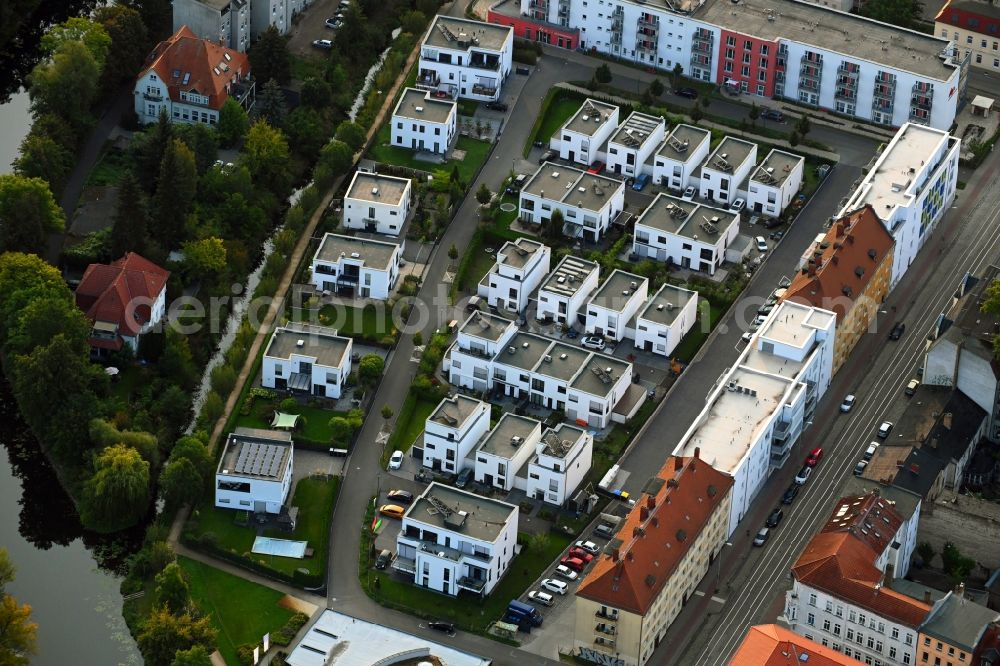 Brandenburg an der Havel from above - Single-family residential area of settlement Am Muehlengraben in Brandenburg an der Havel in the state Brandenburg, Germany