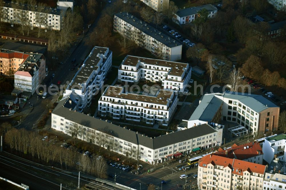Berlin from above - Residential site with multi-family housing development- on the Alte Kaulsdorfer Strasse in the district Koepenick in Berlin, Germany