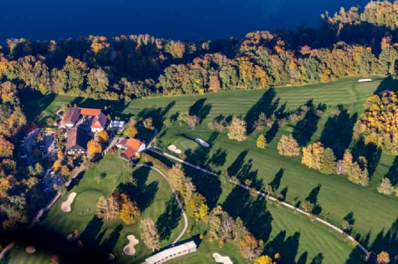 Grounds of the Golf course of Golf-Club Konstanz in the district Langenrain in Allensbach in the state Baden-Wurttemberg, Germany