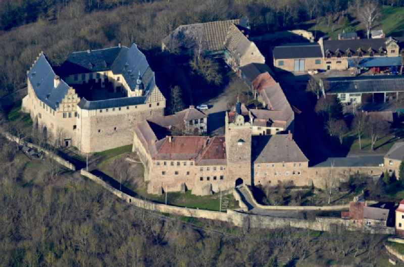 Castle complex 'Burg and Schloss Allstedt' with castle walls in Allstedt in the state Saxony-Anhalt, Germany