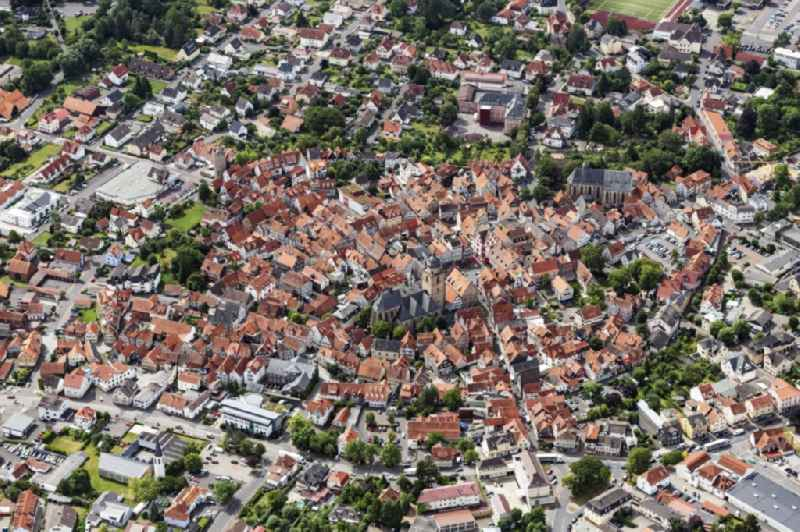 Old Town area and city center in Alsfeld in the state Hesse, Germany