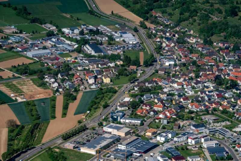 Mixing of residential and commercial settlements in Altdorf in the state Baden-Wuerttemberg, Germany