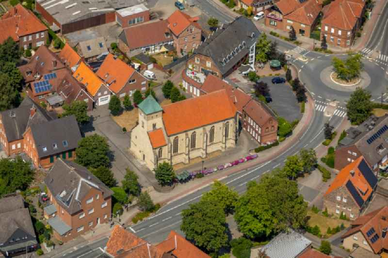 Church building in Alverskirchen in the state North Rhine-Westphalia, Germany.
