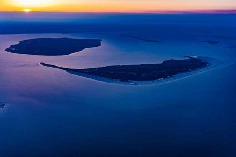 Coastal area in sunrise - North Sea islands in Amrum and Foehr in the state Schleswig-Holstein, Germany