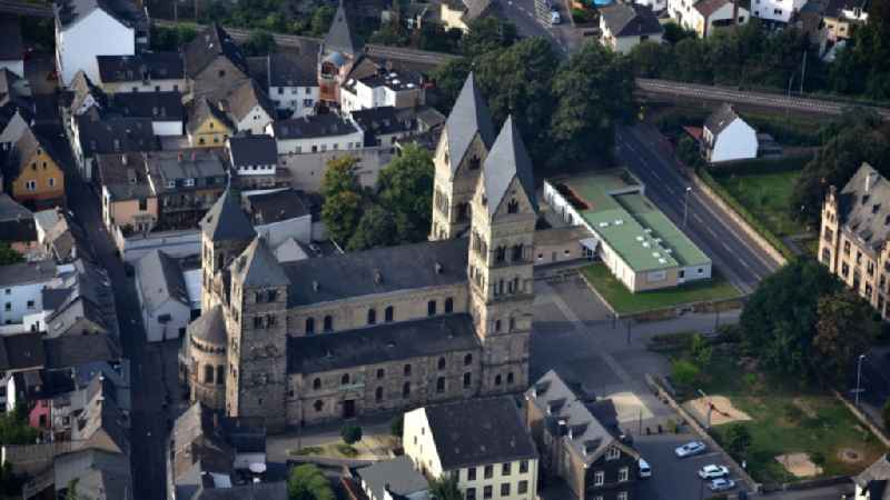 Church building of the cathedral of in Andernach in the state Rhineland-Palatinate, Germany