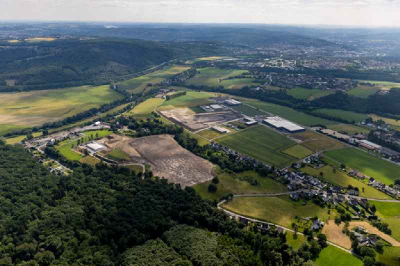 Industrial and commercial area Vosswinkel on Echthauser Strasse in Arnsberg in the state North Rhine-Westphalia, Germany
