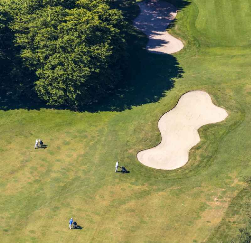 Grounds of the Golf course at of Golfclub Sauerland e. V. in the district Herdringen in Arnsberg in the state North Rhine-Westphalia, Germany