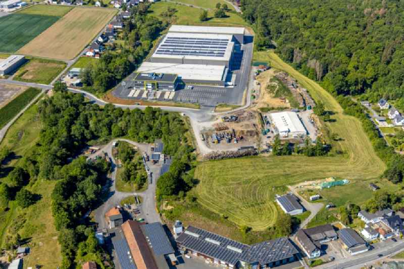 New construction of the company administration building and Logistikzentrums of ' TRIO Leuchten GmbH ' on Oststrasse in Vosswinkel in the state North Rhine-Westphalia, Germany
