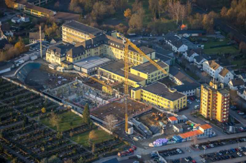 Construction site for a new extension to the hospital grounds ' Klinikum Hochsauerland ' in Arnsberg in the state North Rhine-Westphalia, Germany
