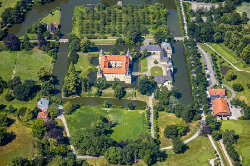 Building and castle park systems of water castle Westerwinkel in Ascheberg in the state North Rhine-Westphalia, Germany