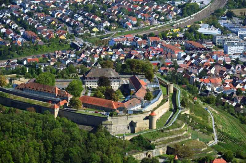 Former fortress todays prison hospital Hohenasperg in Asperg in the state Baden-Wurttemberg, Germany