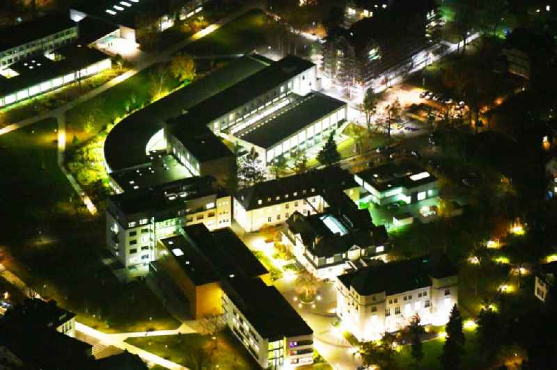Night lighting Campus building of the university Freie Universitaet Berlin in the district Dahlem in Berlin, Germany