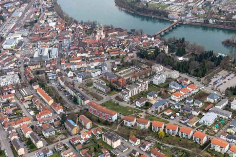 Old Town area and city center Am Hochrhein in Bad Saeckingen in the state Baden-Wurttemberg, Germany