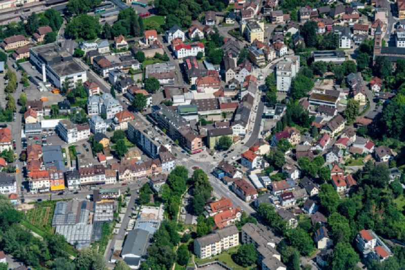 Town View of the streets and houses of the residential areas in the district Oos in Baden-Baden in the state Baden-Wuerttemberg, Germany