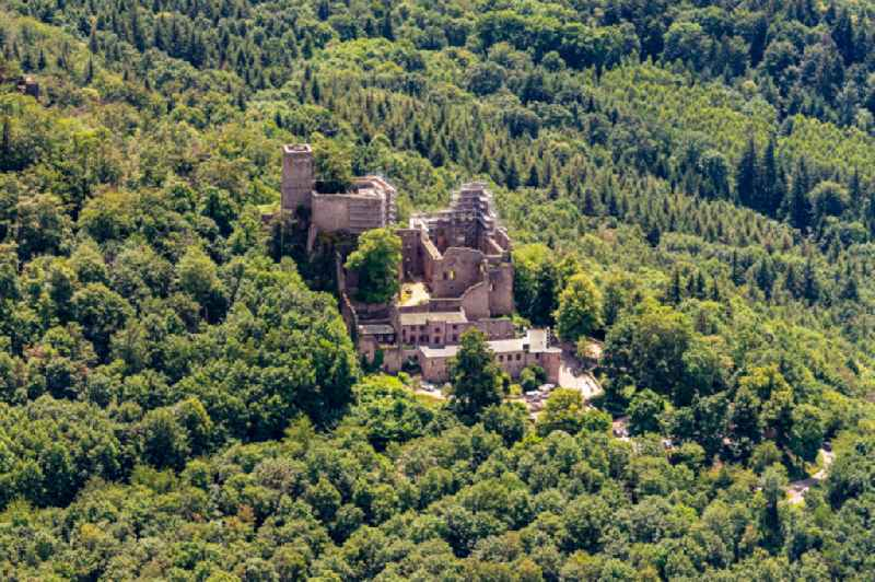 Ruins and vestiges of the former castle and fortress Altes Schloss in Baden-Baden in the state Baden-Wurttemberg, Germany