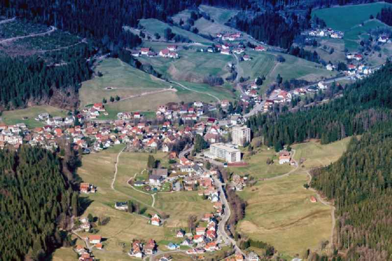 The district Obertal in Baiersbronn in the state Baden-Wuerttemberg, Germany