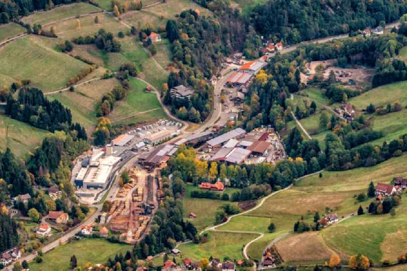 Company grounds and facilities of Zuefle Holzwerk in Baiersbronn in the state Baden-Wurttemberg, Germany