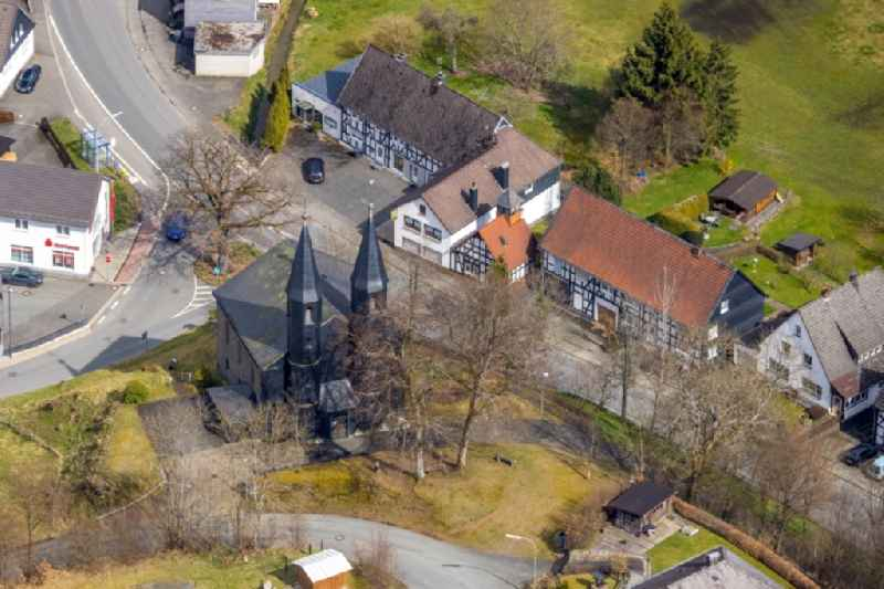 Church building in Banfe on Siegerland in the state North Rhine-Westphalia, Germany