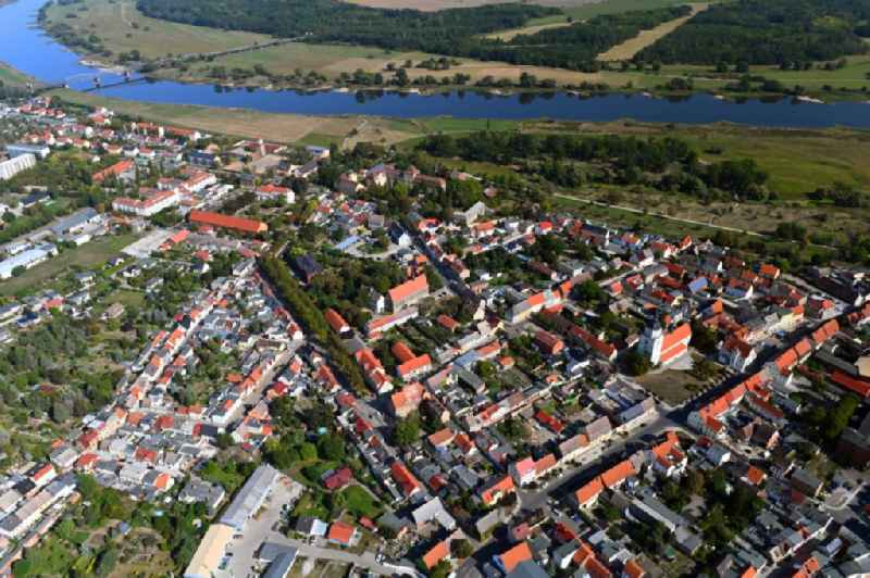 Town View of the streets and houses of the residential areas in Barby (Elbe) in the state Saxony-Anhalt, Germany