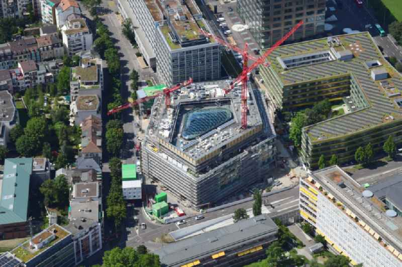 Construction site for the new building of a research building and office complex ' BSS ETH Biosysteme ' on Klingelbergstrasse corner Schanzenstrasse in Basel, Switzerland