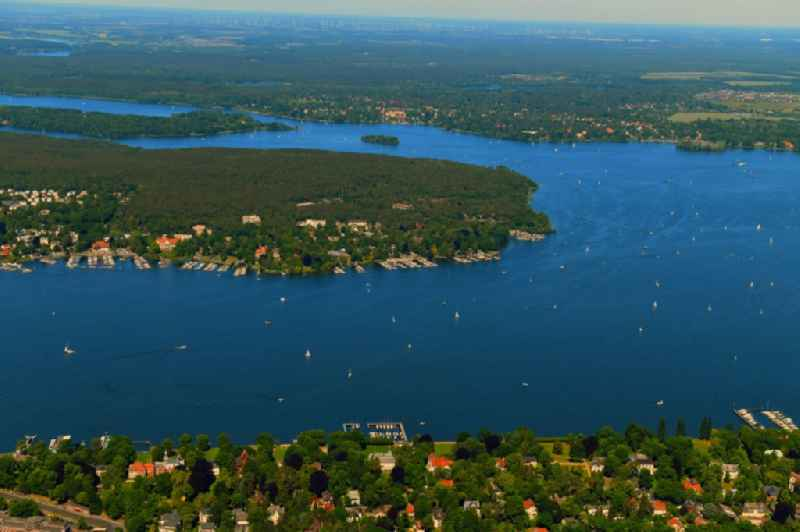 Riparian areas on the lake area of ' Grosser Wannsee ' in the district Nikolassee in Berlin, Germany