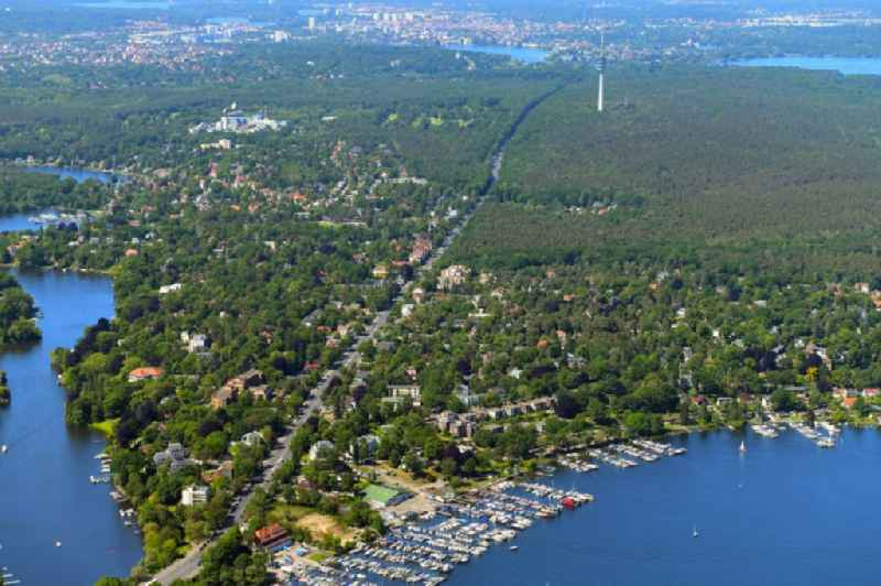 Outskirts residential on Koenigstrasse in the district Wannsee in Berlin, Germany