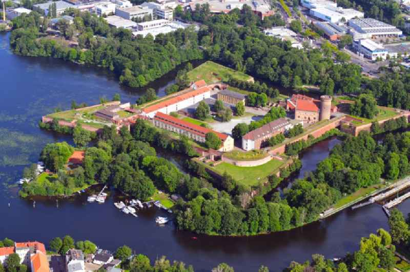 Fortress complex 'Zitadelle Spandau' with a star-shaped park on the Juliusturm in the district Haselhorst in Berlin, Germany