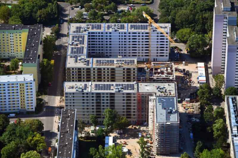 Construction site to build a new multi-family residential complex Dolgensee-Center on Dolgenseestrasse in the district Lichtenberg in Berlin, Germany