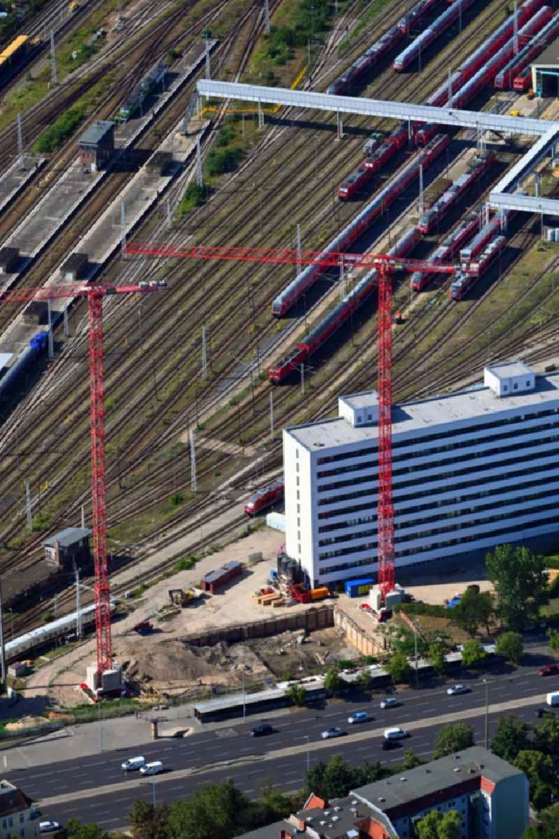 Construction site for new high-rise building complex ' Q218 ' on Frankfurter Allee in the district Lichtenberg in Berlin, Germany