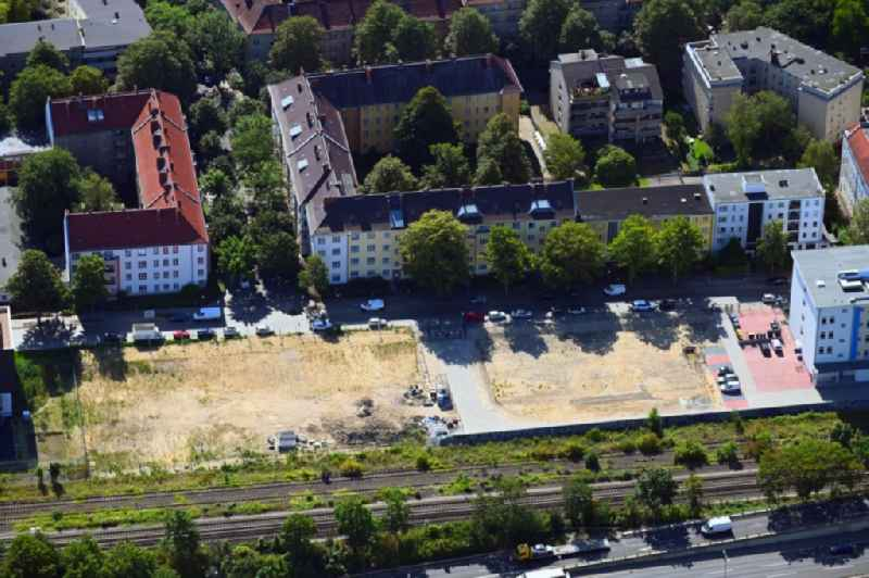 Development area and building land fallow on Koernerstrasse - A103 in the district Steglitz in Berlin, Germany