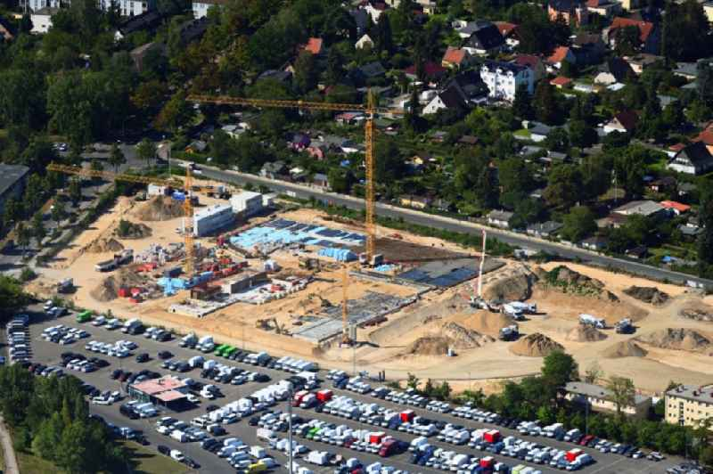 New construction site of the school building Clay-Oberschule on Neudecker Weg and August-Froehlich-Strasse in Berlin, Germany