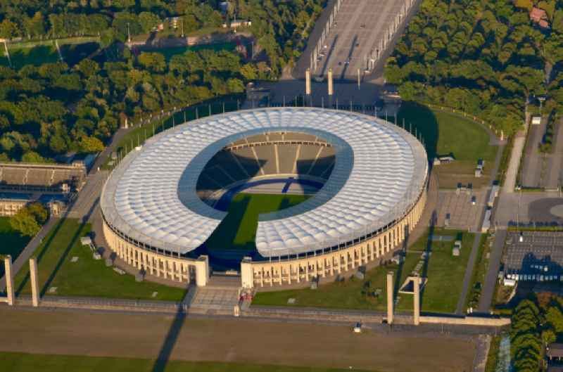 Sports facility grounds of the Arena stadium Olympiastadion of Hertha BSC in Berlin in Germany