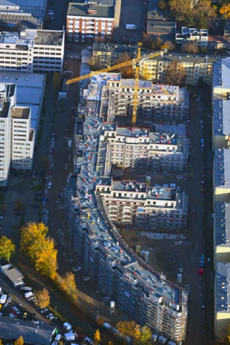Construction site to build a new multi-family residential complex Eythstrasse corner Bessemerstrasse in the district Schoeneberg in Berlin, Germany