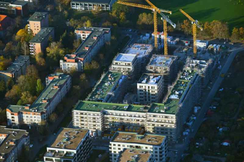 Construction site for the construction of an apartment building 'Maximilians Quartier' on Forckenbeckstrasse in the Schmargendorf district in Berlin, Germany