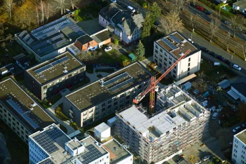Construction site for the multi-family residential building on Treskowstrasse in the district Heinersdorf in Berlin, Germany