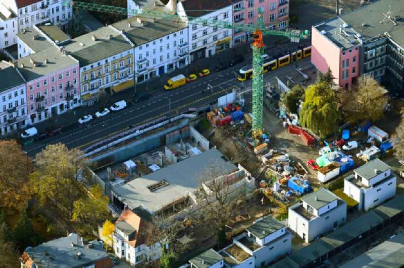 New construction site for a rehabilitation center of the rehabilitation clinic on Berliner Strasse in the district Pankow in Berlin, Germany
