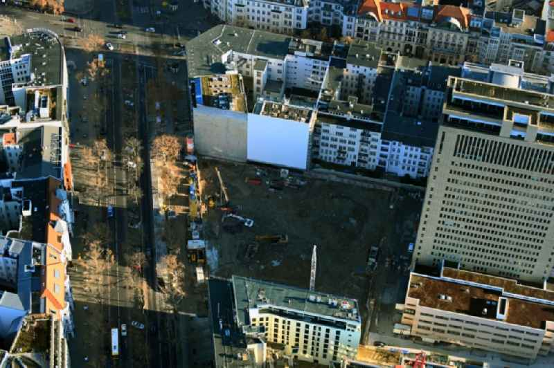 Construction site for reconstruction and modernization and renovation of an office and commercial building ' Fuerst ' in the district Charlottenburg in Berlin, Germany