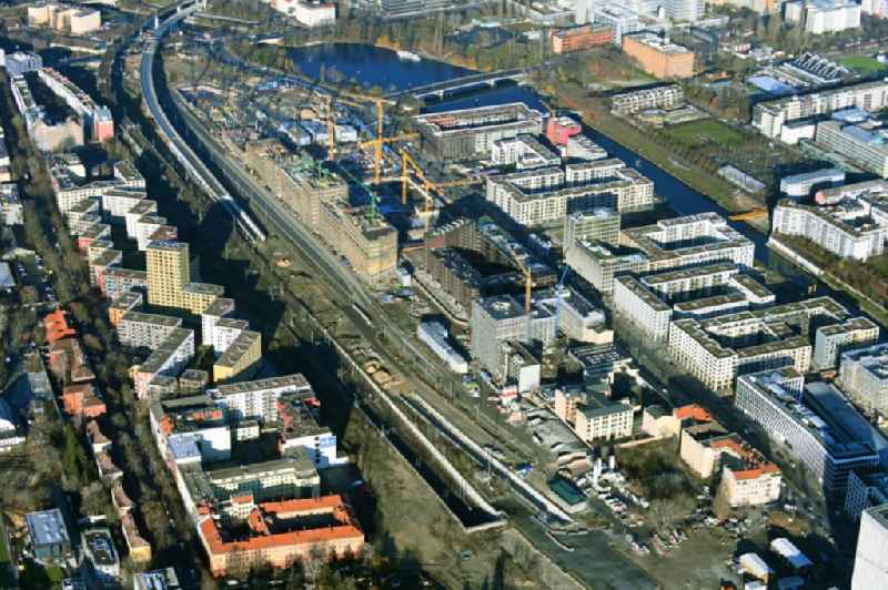 Development area of industrial wasteland of Europa City along the Heidestrasse in the district Moabit in Berlin, Germany