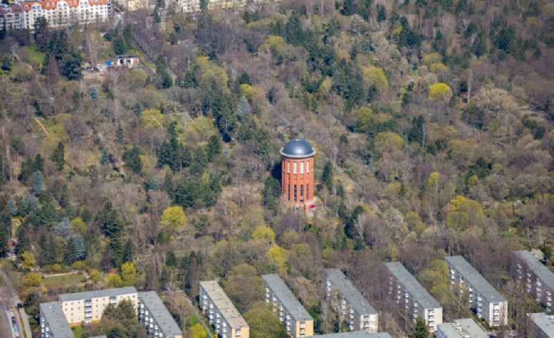 Building of industrial monument water tower ' on Friedhof Steglitz ' in Berlin, Germany