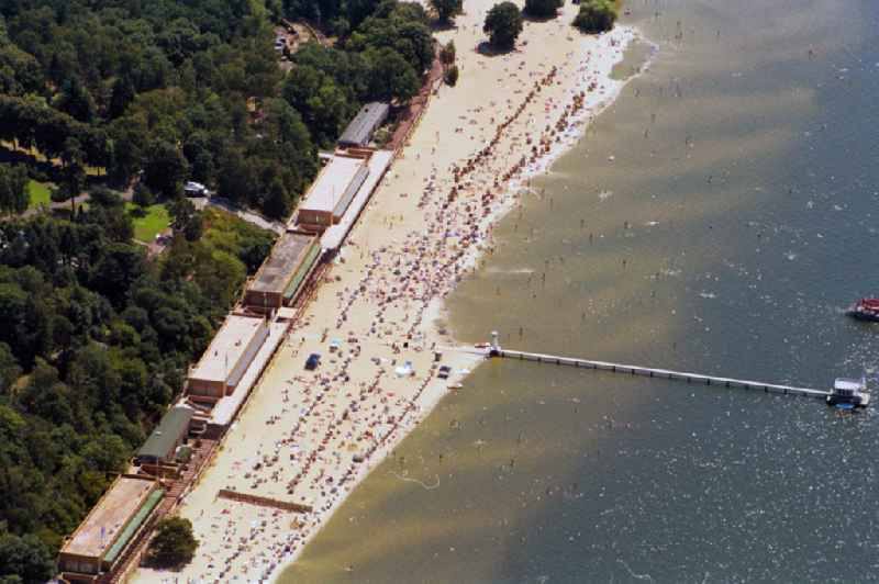 Beach on the shore of the Wannsee in Berlin