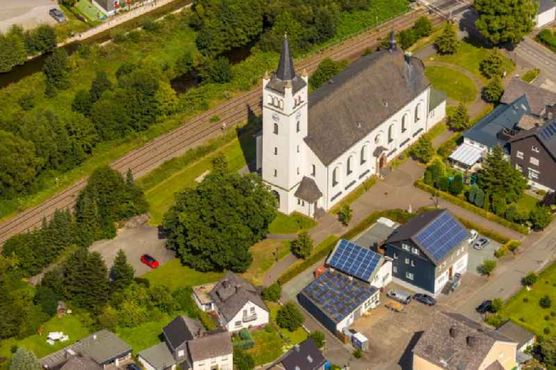 Church building ' St. Andreas ' in the district Velmede in Bestwig in the state North Rhine-Westphalia, Germany