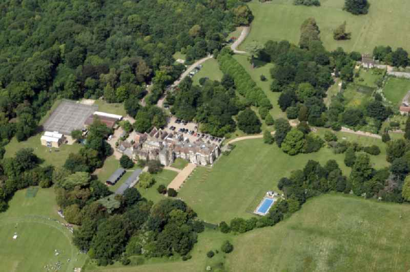 Northbourne Park School, Betteshanger in the county of Kent in England, Exclusive private school Hanger castle, with sports court and swimming pool in a landscaped park.