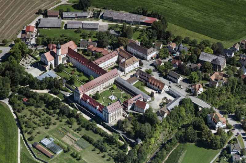 Complex of buildings of the monastery Benediktiner Erzabtei St. Martin on Abteistrasse in the district Langenbrunn in Beuron in the state Baden-Wuerttemberg