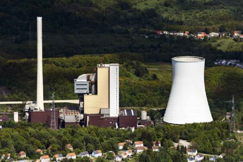 Power plants and exhaust towers of coal thermal power station in Bexbach in the state Saarland, Germany.