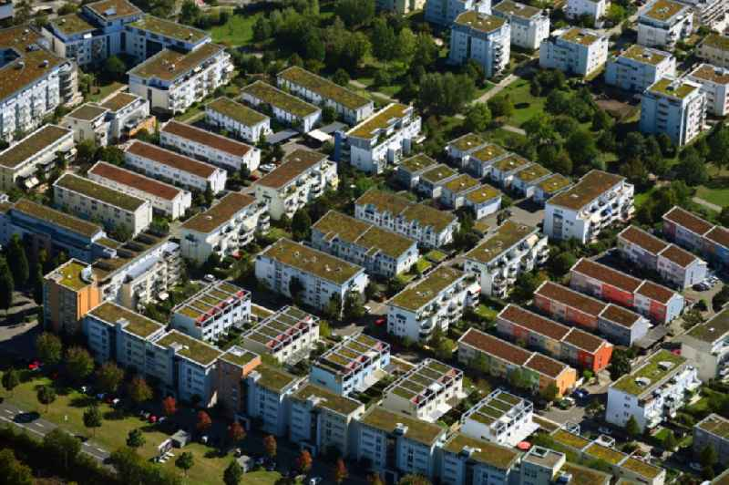 Outskirts residential Max-Born-Strasse - Marie-Curie-Strasse - Max-Delbrueck-Strasse in the district Ellental in Bietigheim-Bissingen in the state Baden-Wuerttemberg, Germany