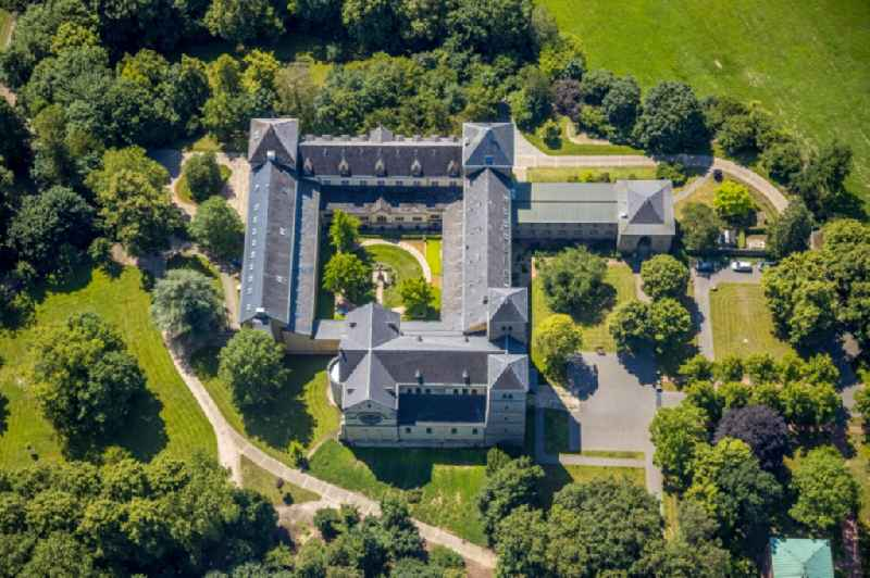 Complex of buildings of the monastery Benediktinerabtei Gerleve e.V. in the district Aulendorf in Billerbeck in the state North Rhine-Westphalia, Germany