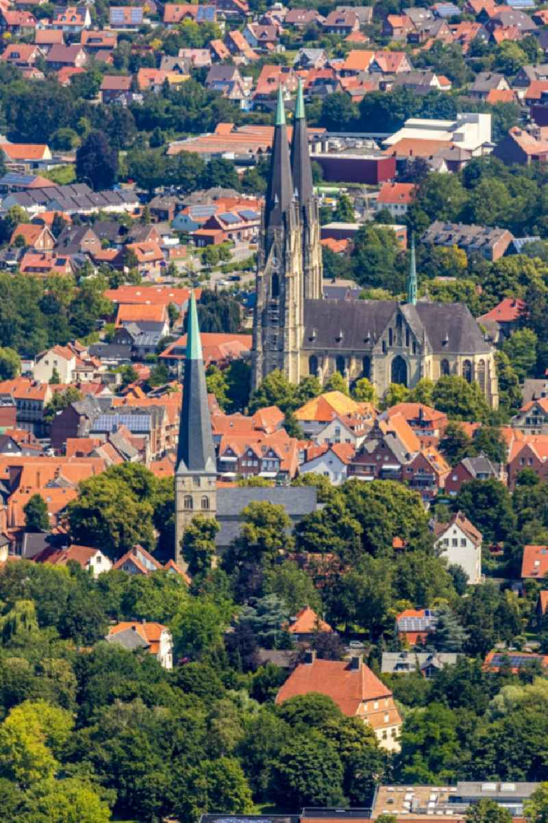 Church building of the cathedral St. Ludgerus on Domgasse in the old town in Billerbeck in the state North Rhine-Westphalia, Germany