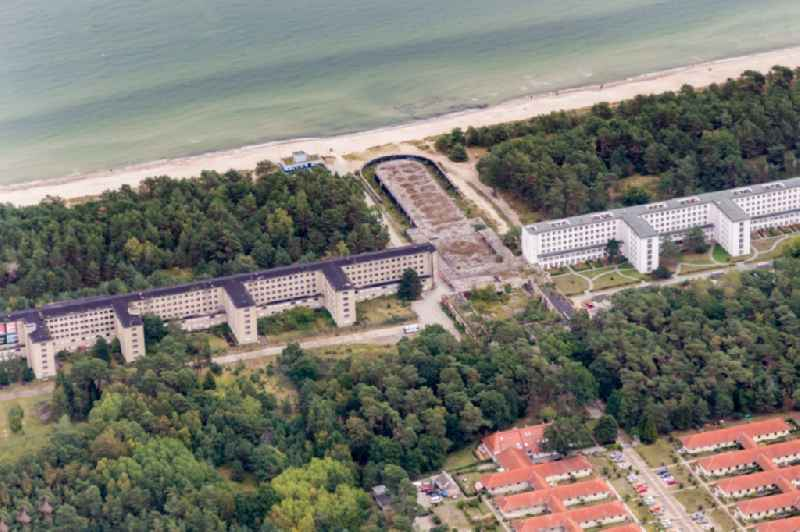 Building complex of the former military barracks ' Koloss von Prora ' in the district Prora in Binz in the state Mecklenburg - Western Pomerania.