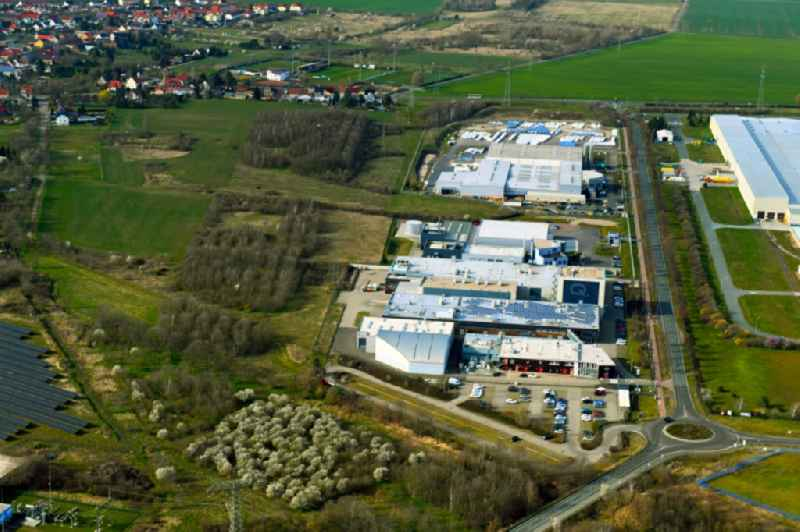 Industrial estate and company settlement in Thalheim in the state Saxony-Anhalt, Germany